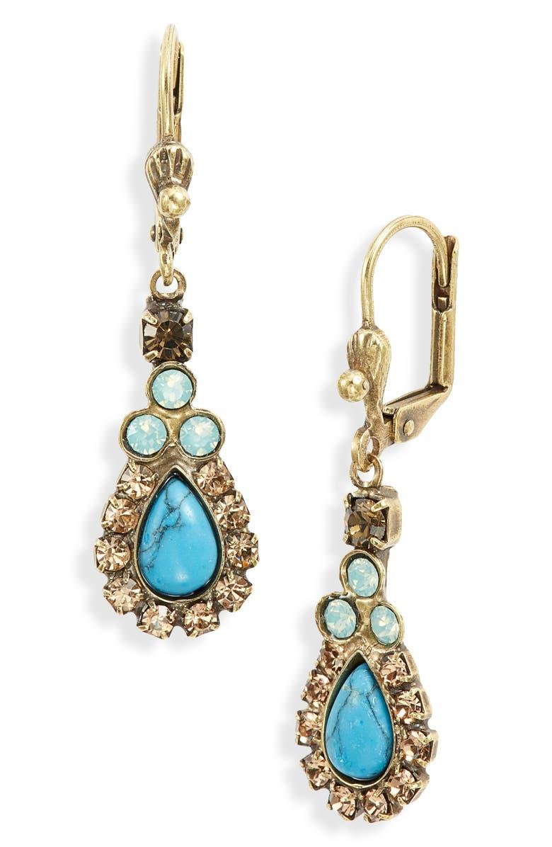 SORRELLI Stone & Crystal Drop Earrings, Main, color, 710