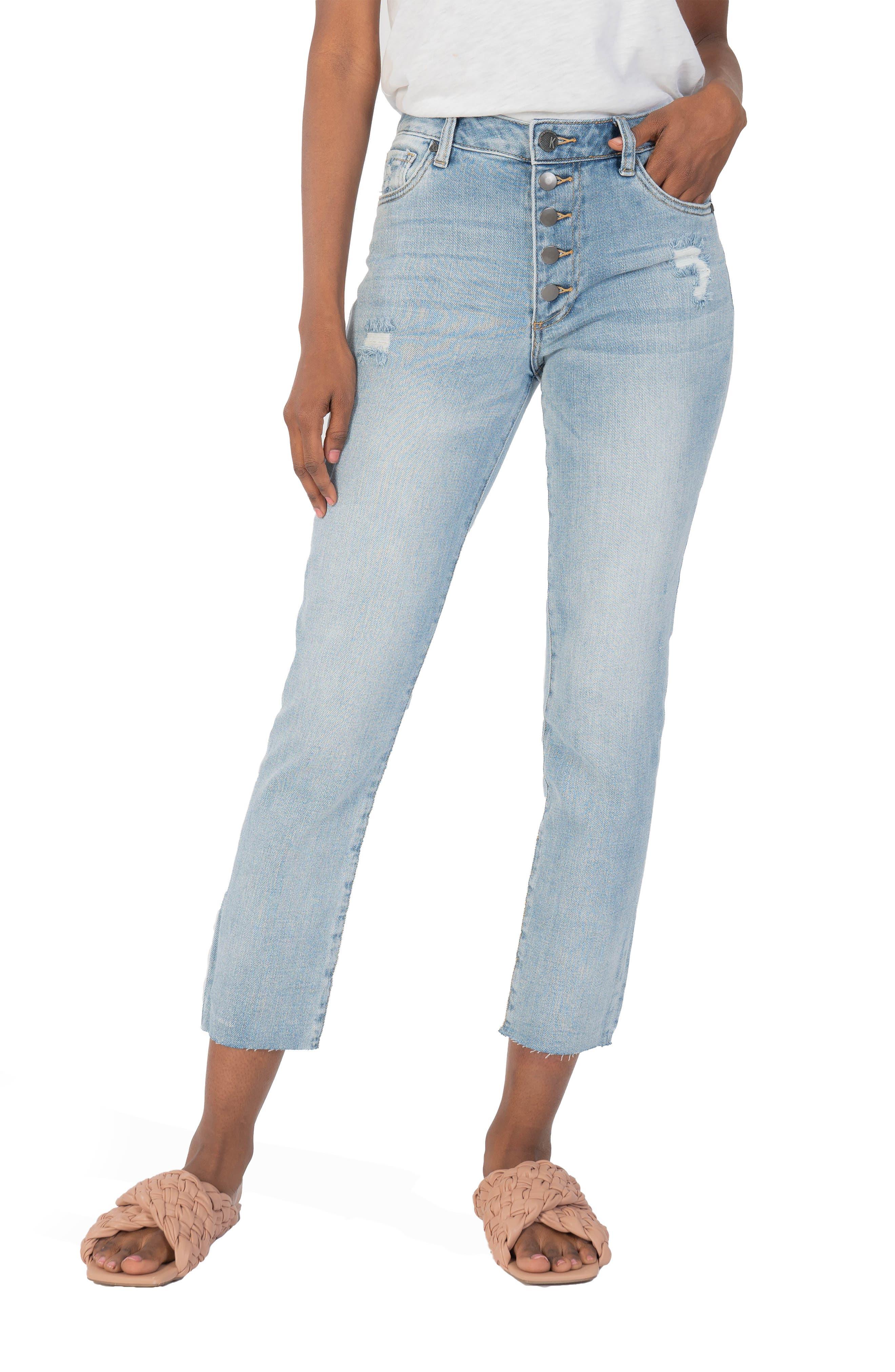 Reese High Waist Ankle Straight Leg Jeans