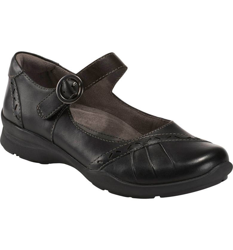 EARTH<SUP>®</SUP> Natural Superior Mary Jane Flat, Main, color, BLACK LEATHER
