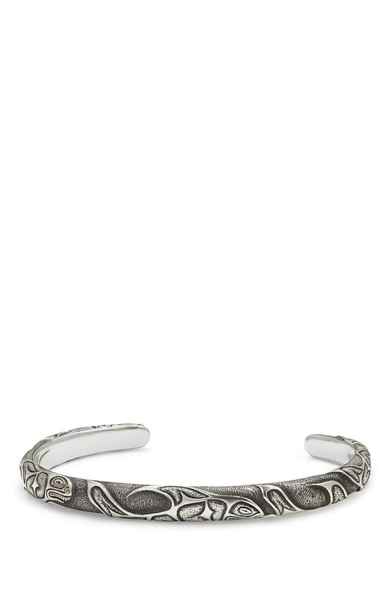 DAVID YURMAN Northwest Narrow Cuff Bracelet, Main, color, SILVER
