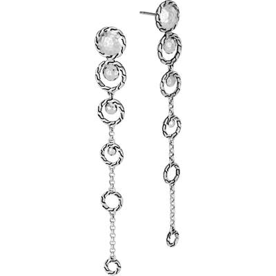 John Hardy Classic Chain Hammered Long Drop Earrings