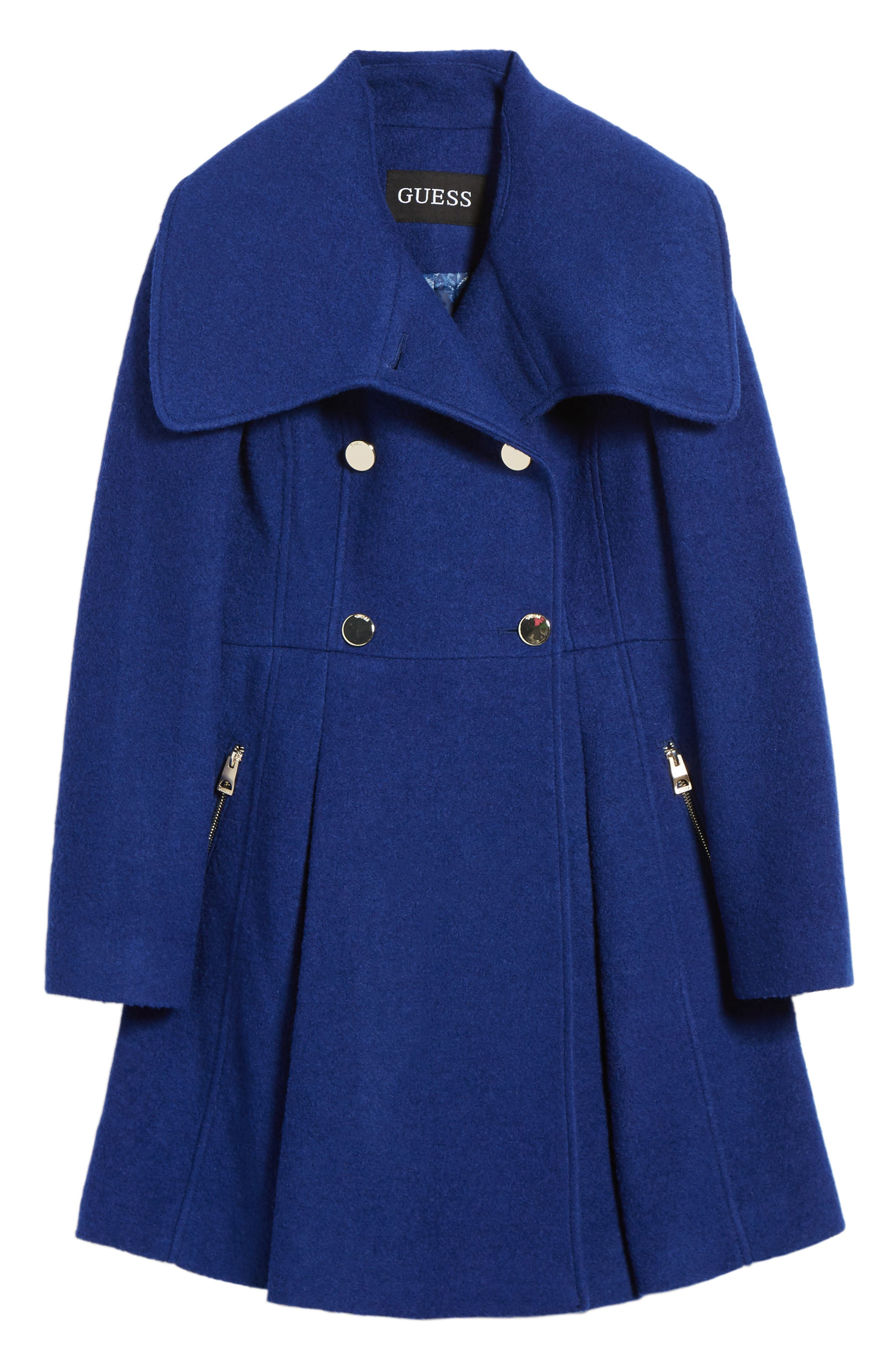 ,                             Envelope Collar Double Breasted Coat,                             Alternate thumbnail 16, color,                             433
