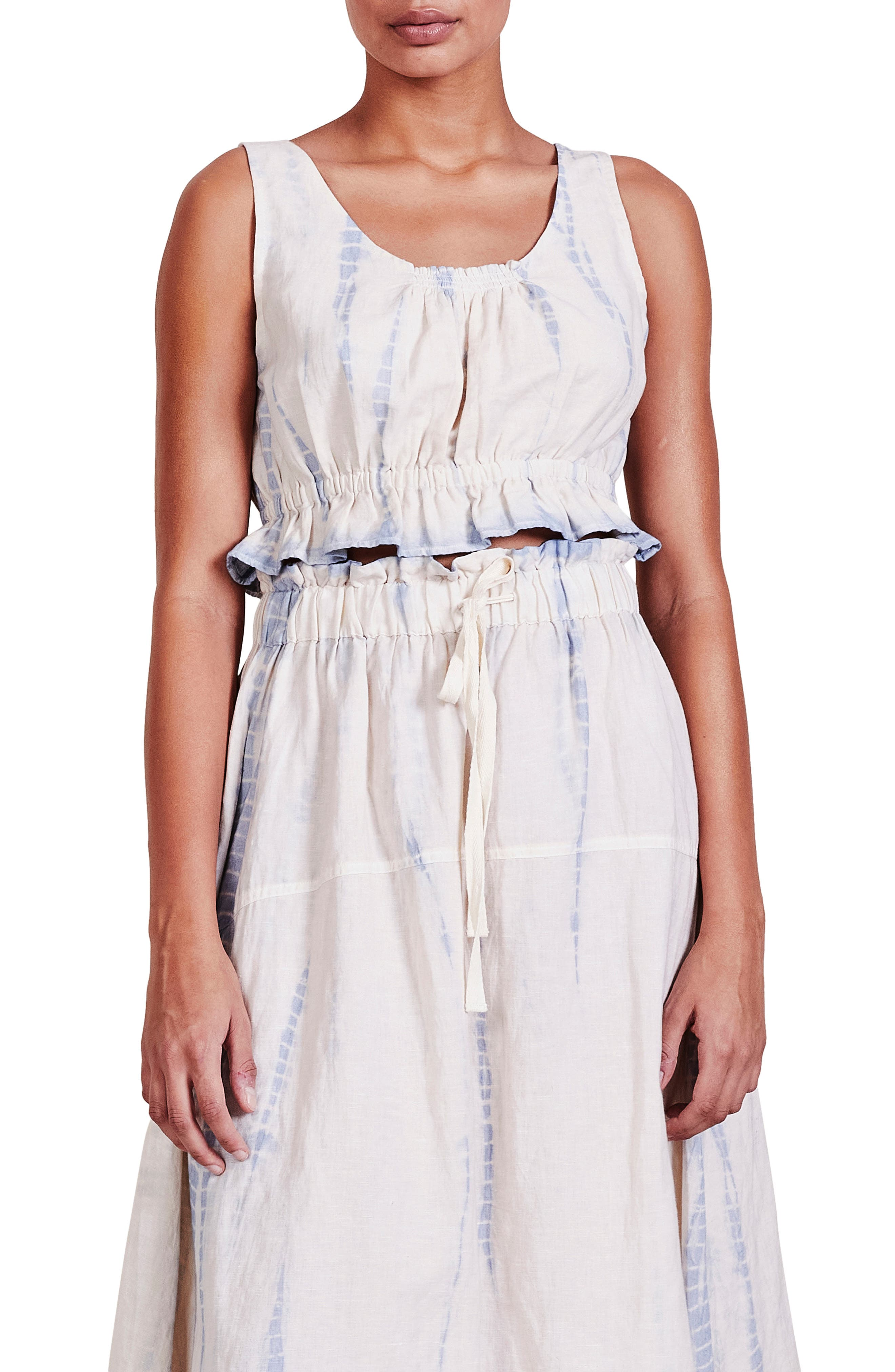 Pais Cotton & Linen Crop Top