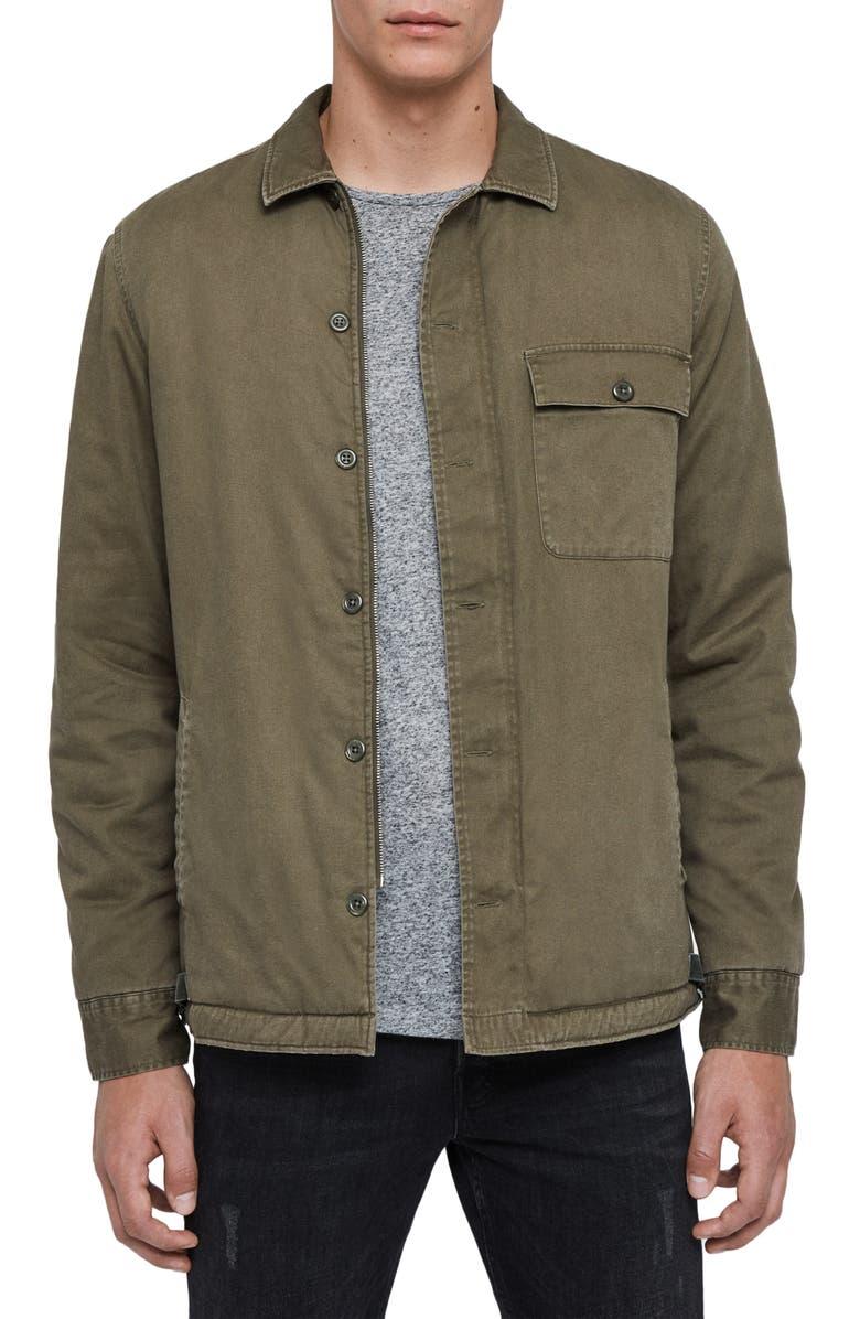 ALLSAINTS Deck Shirt Jacket, Main, color, 356