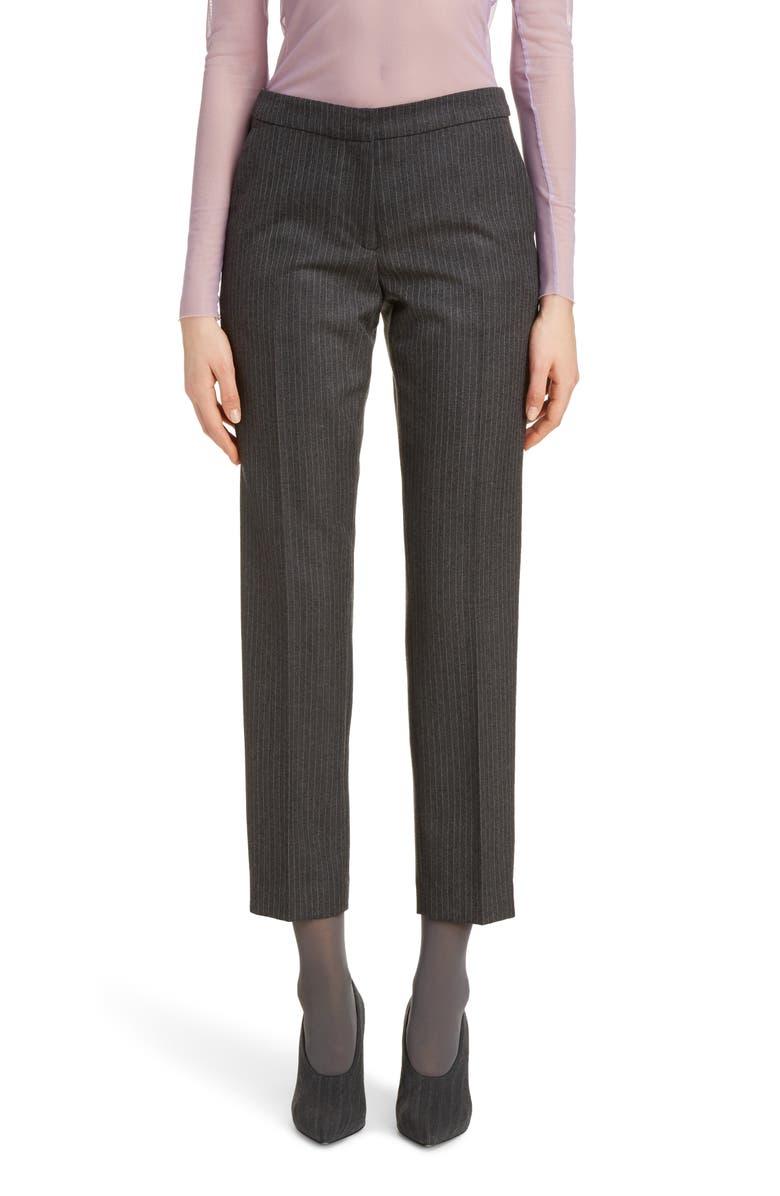 DRIES VAN NOTEN Pearl Pinstripe Trousers, Main, color, 020