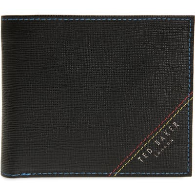 Ted Baker London Hidd Rfid Leather Bifold Wallet - Black