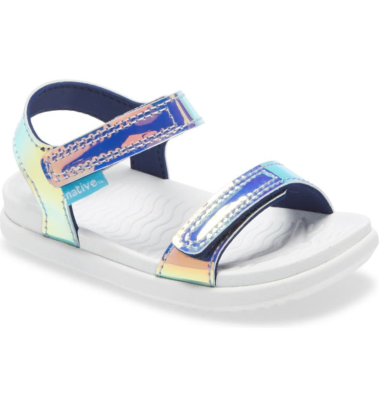 NATIVE SHOES Charley Hologram Sandal, Main, color, PINK HOLOGRAM/ SHELL WHITE