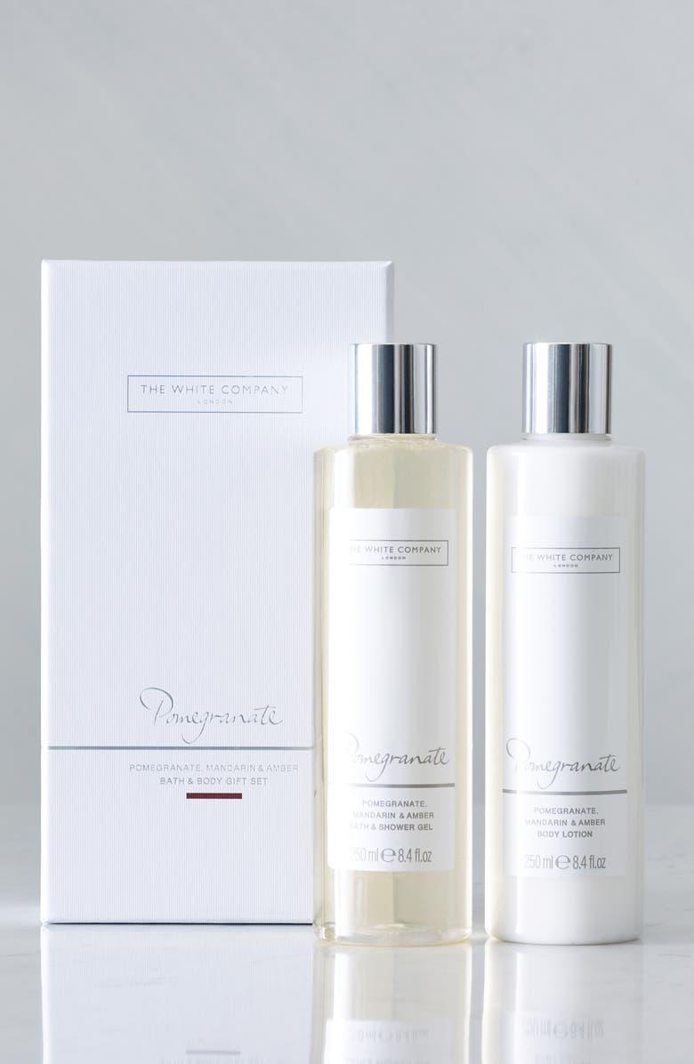 THE WHITE COMPANY Pomegranate Bath & Body Set, Main, color, POMEGRANTE