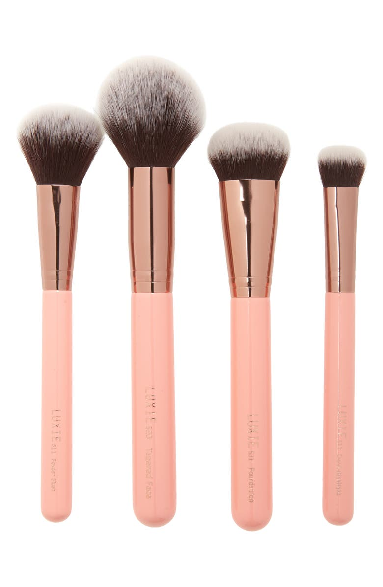 LUXIE Rose Gold Face Brush Set, Main, color, NO COLOR