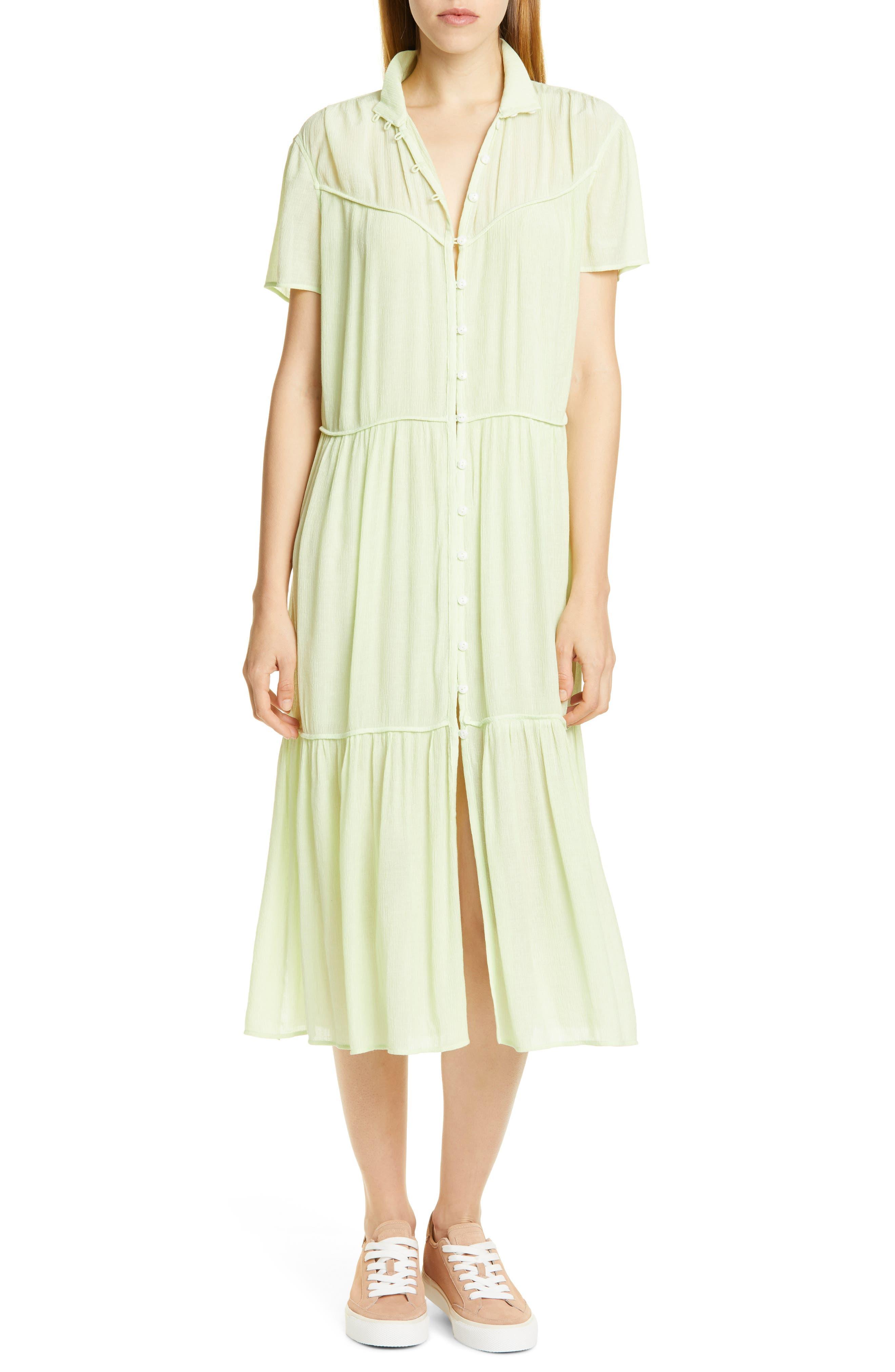 Rag & Bone Libby Midi Dress, Green