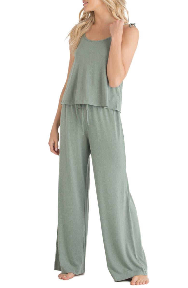 HONEYDEW INTIMATES Jersey Pajamas, Main, color, HEMLOCK