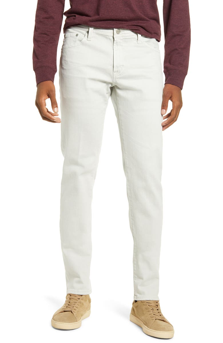 AG Tellis Slim Fit Jeans, Main, color, 7 YEARS SULFUR PALE SMOKE