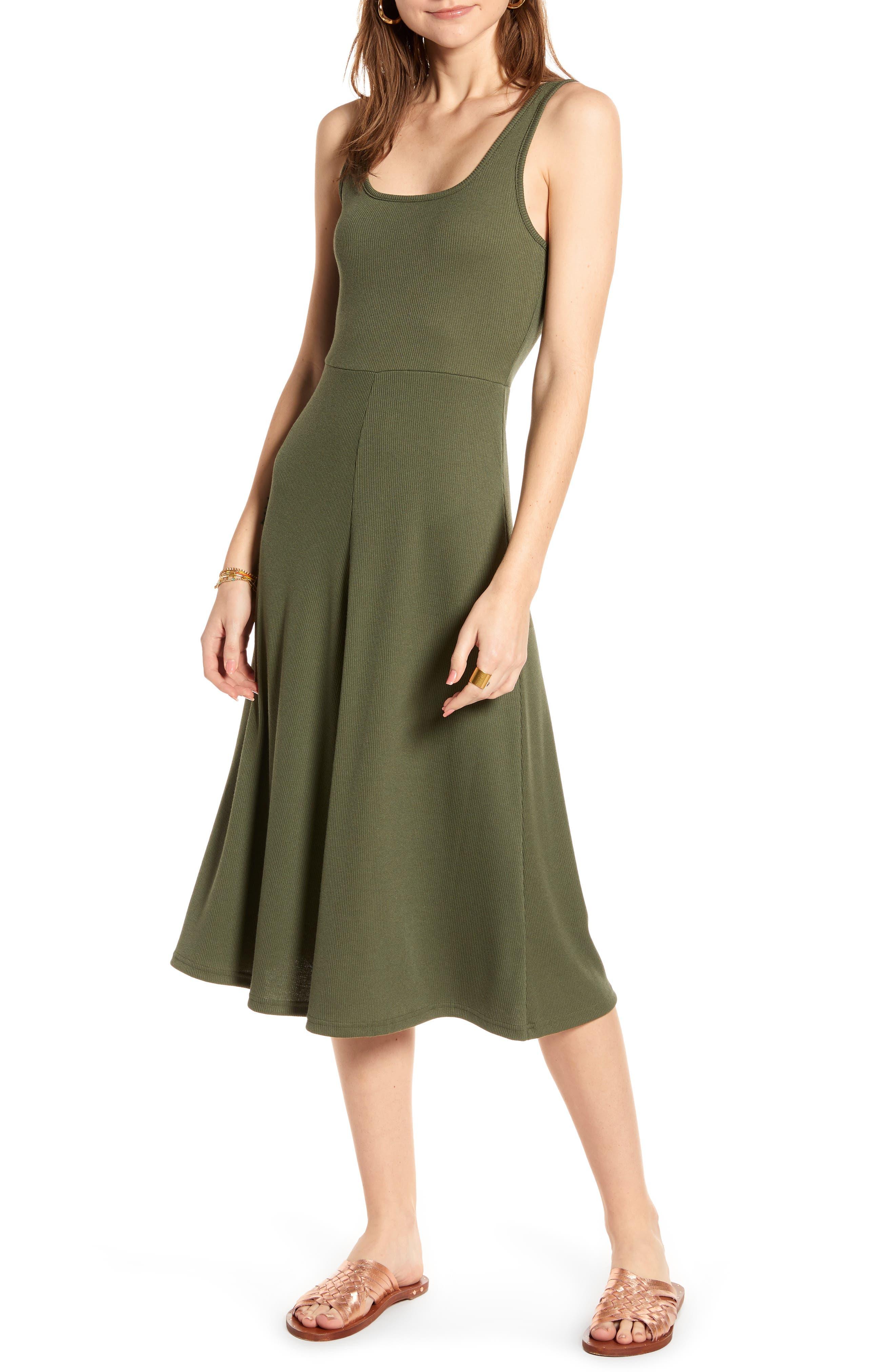 Plus Size Treasure & Bond A-Line Tank Dress, Size - Green