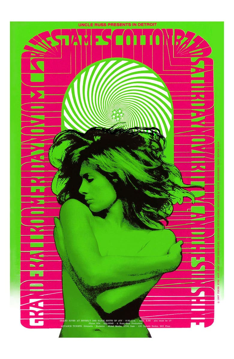 ANNA SUI Vanessa Poster, Main, color, GREEN/PINK