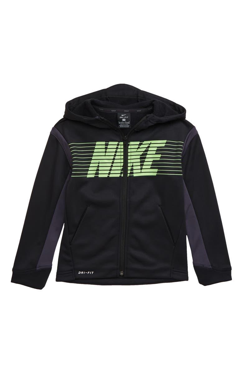 NIKE Therma Dri-FIT Full Zip Hoodie, Main, color, BLACK