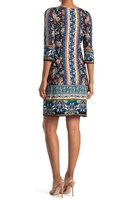Image of London Times Border Pattern Jersey Shift Dress