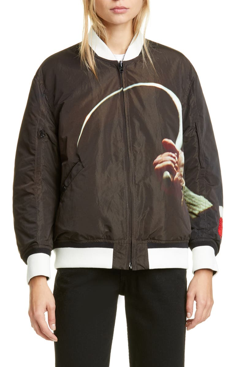 UNDERCOVER Suspiria Reversible Bomber Jacket, Main, color, A BROWN