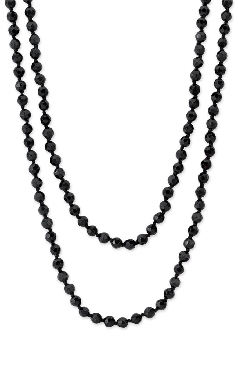 NORDSTROM 6mm Glass Pearl Extra Long Strand Necklace, Main, color, 001
