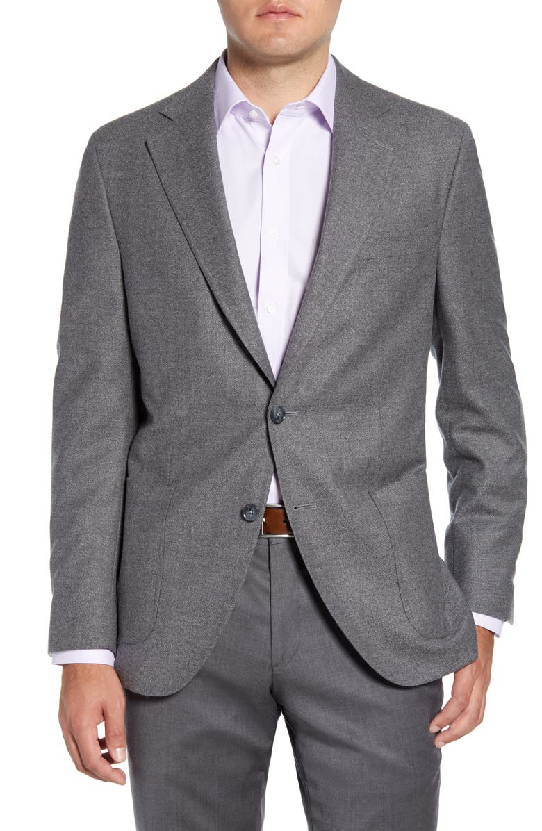 PETER MILLAR Hyperlight Classic Fit Solid Wool Sport Coat, Main, color, LIGHT GREY