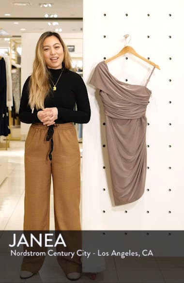 Ruched One-Shoulder Dress, sales video thumbnail