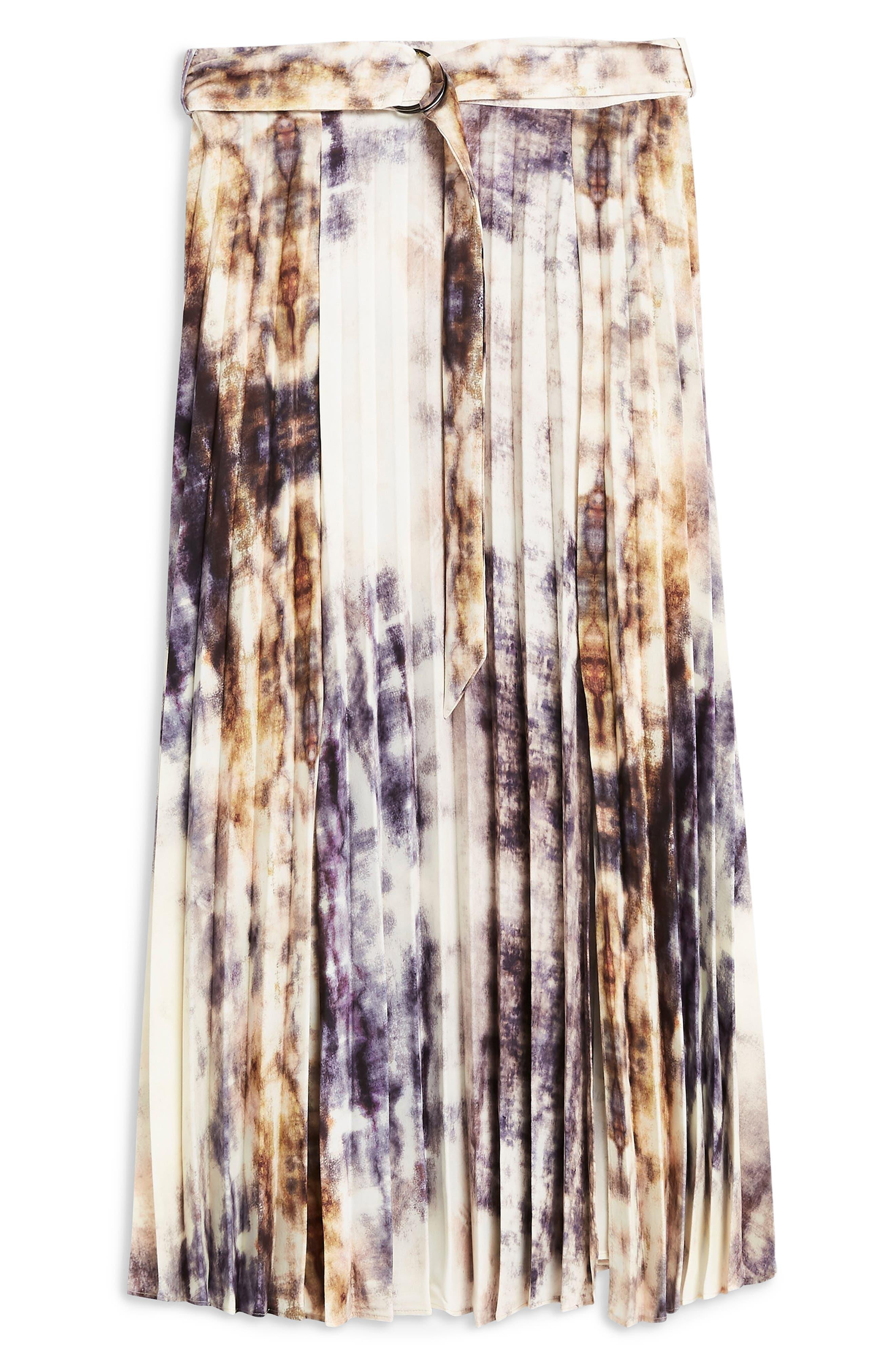 ,                             Tie Dye Midi Skirt,                             Alternate thumbnail 4, color,                             GREY MULTI