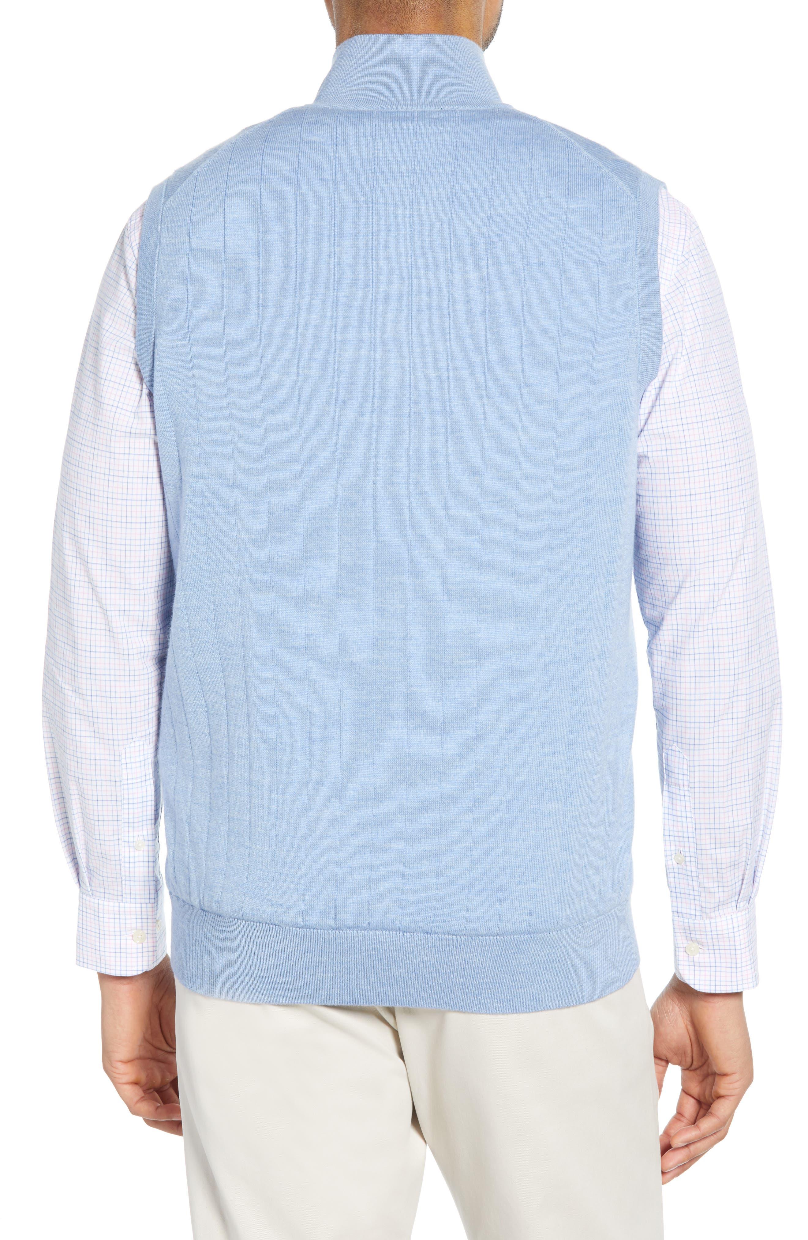 ,                             Quarter Zip Wool Sweater Vest,                             Alternate thumbnail 2, color,                             LIGHT BLUE