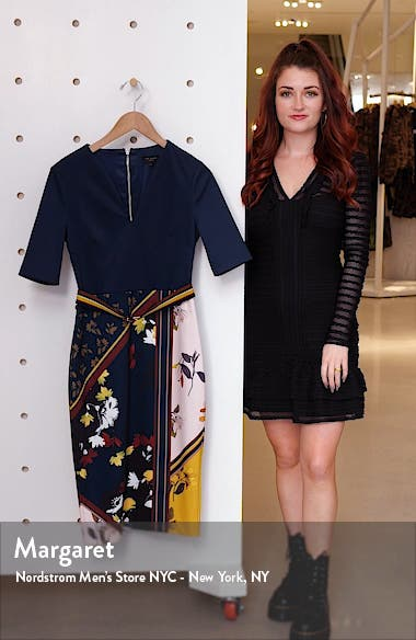 Madiiy Savanna V-Neck Body-Con Dress, sales video thumbnail