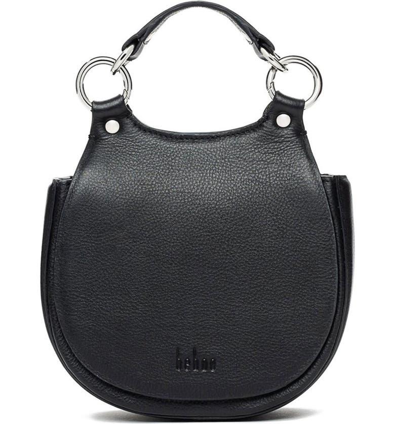 BEHNO Tilda Mini Saddle Bag, Main, color, BLACK