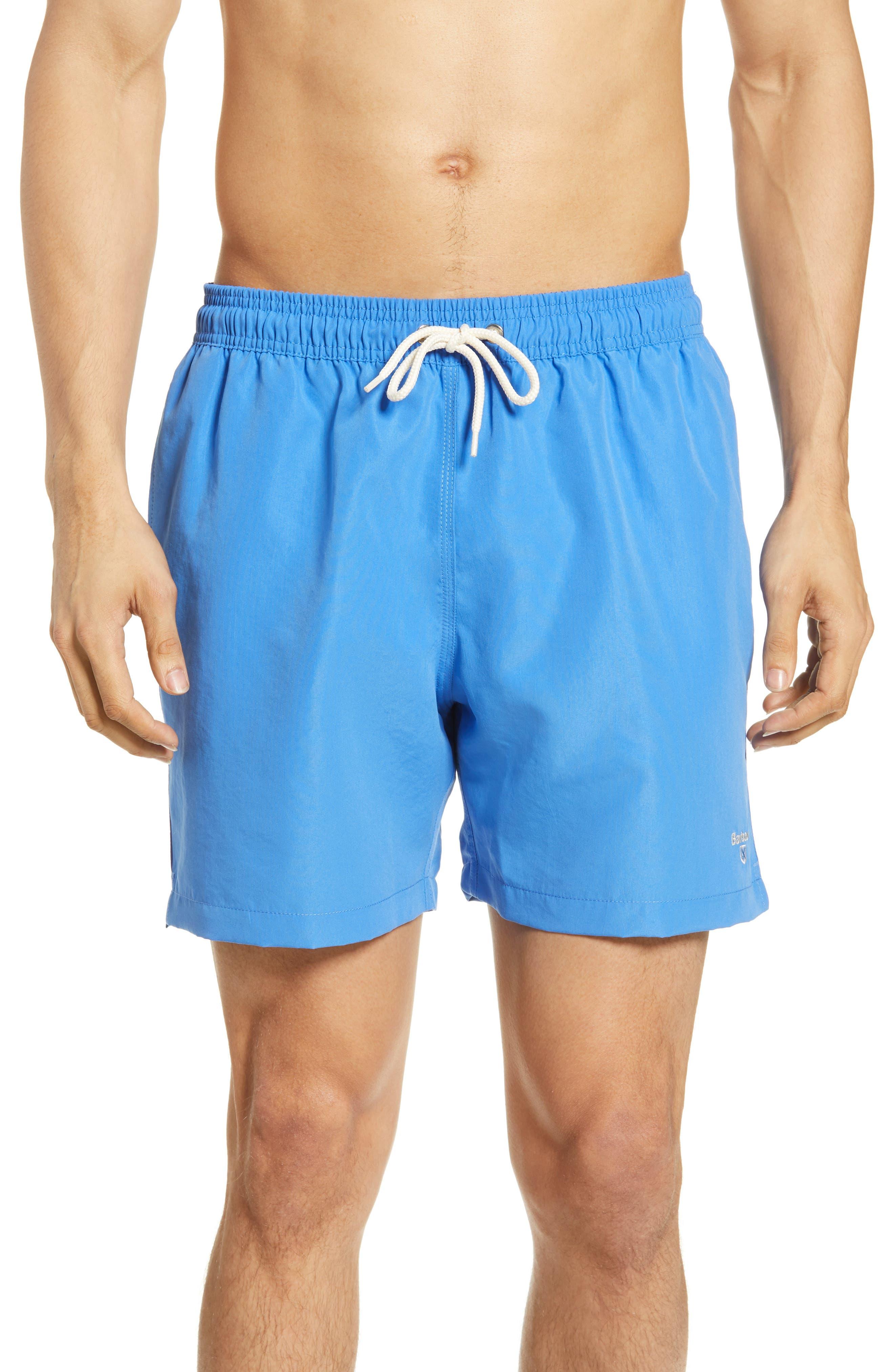 Barbour Logo Swim Trunks, Blue