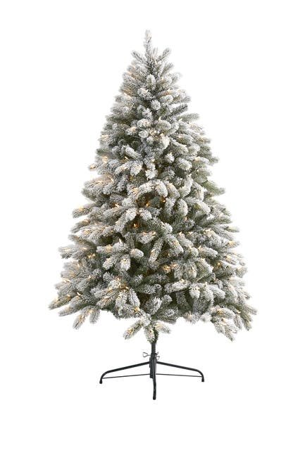 Image of NEARLY NATURAL 6ft. Flocked South Carolina Spruce Artificial Christmas Tree