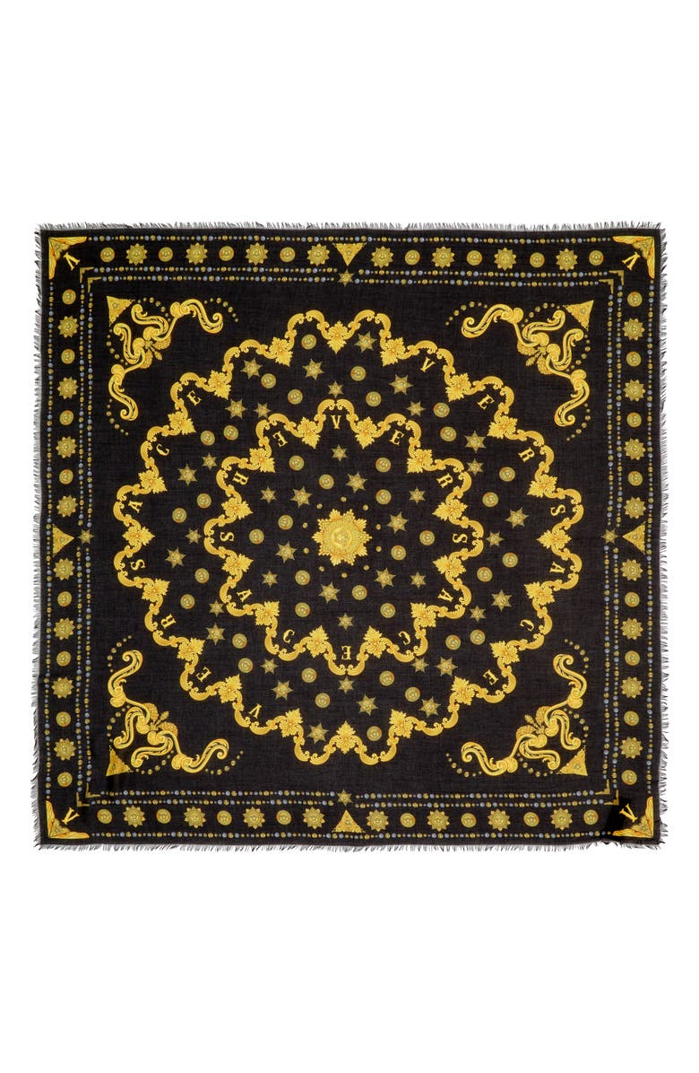VERSACE FIRST LINE Barocco Western Shawl, Main, color, 001