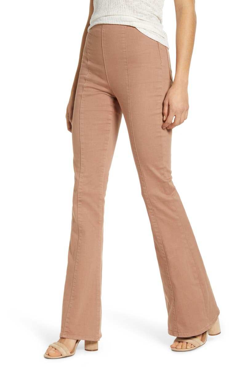 BAND OF GYPSIES Los Feliz Flare Jeans, Main, color, BLACK BLUSH