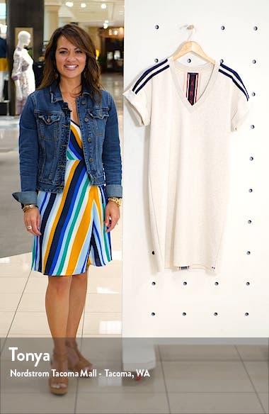 Sporty Stripe Sweat Dress, sales video thumbnail