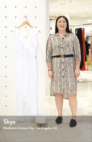 Ruffle Faux Wrap Maxi Dress, sales video thumbnail