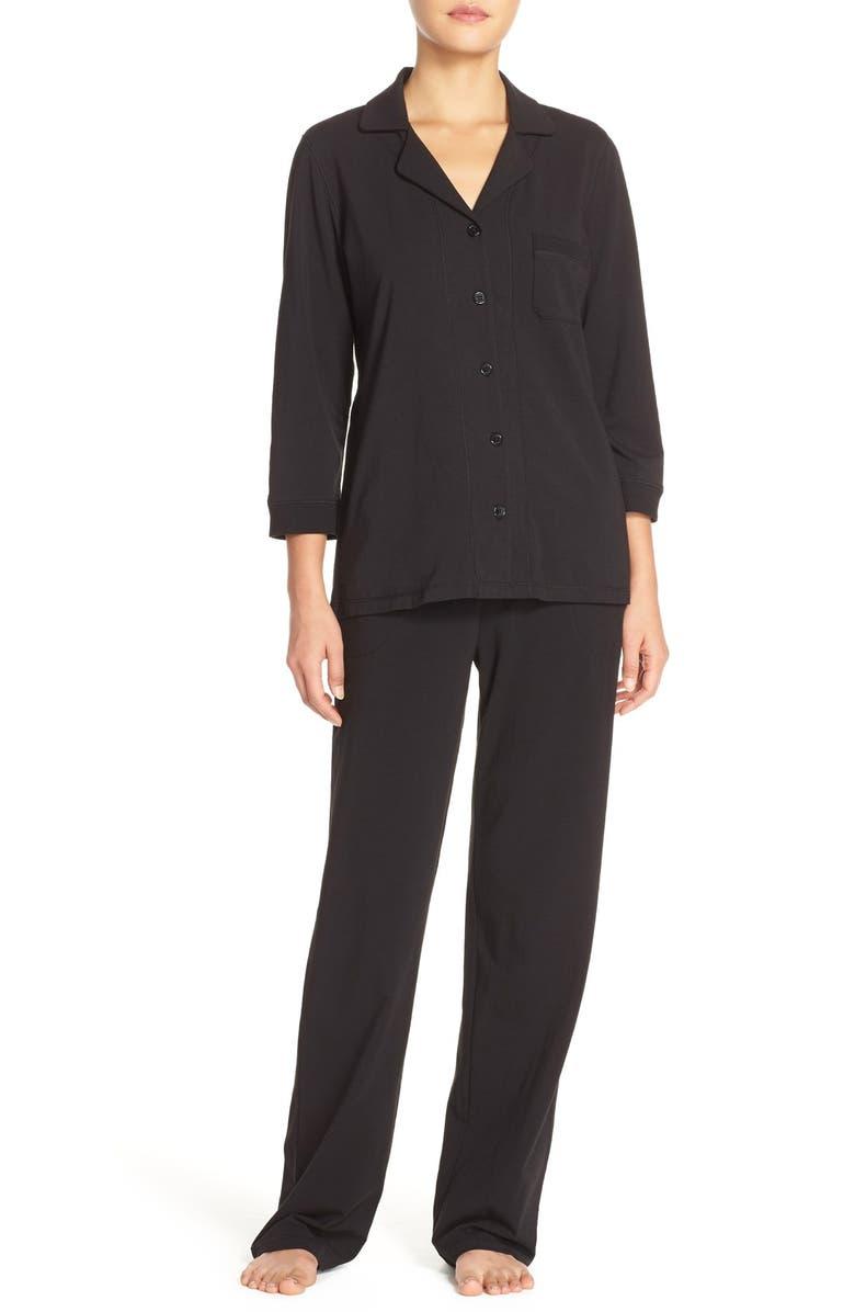 DKNY Stretch Pima Cotton Jersey Pajamas, Main, color, 001