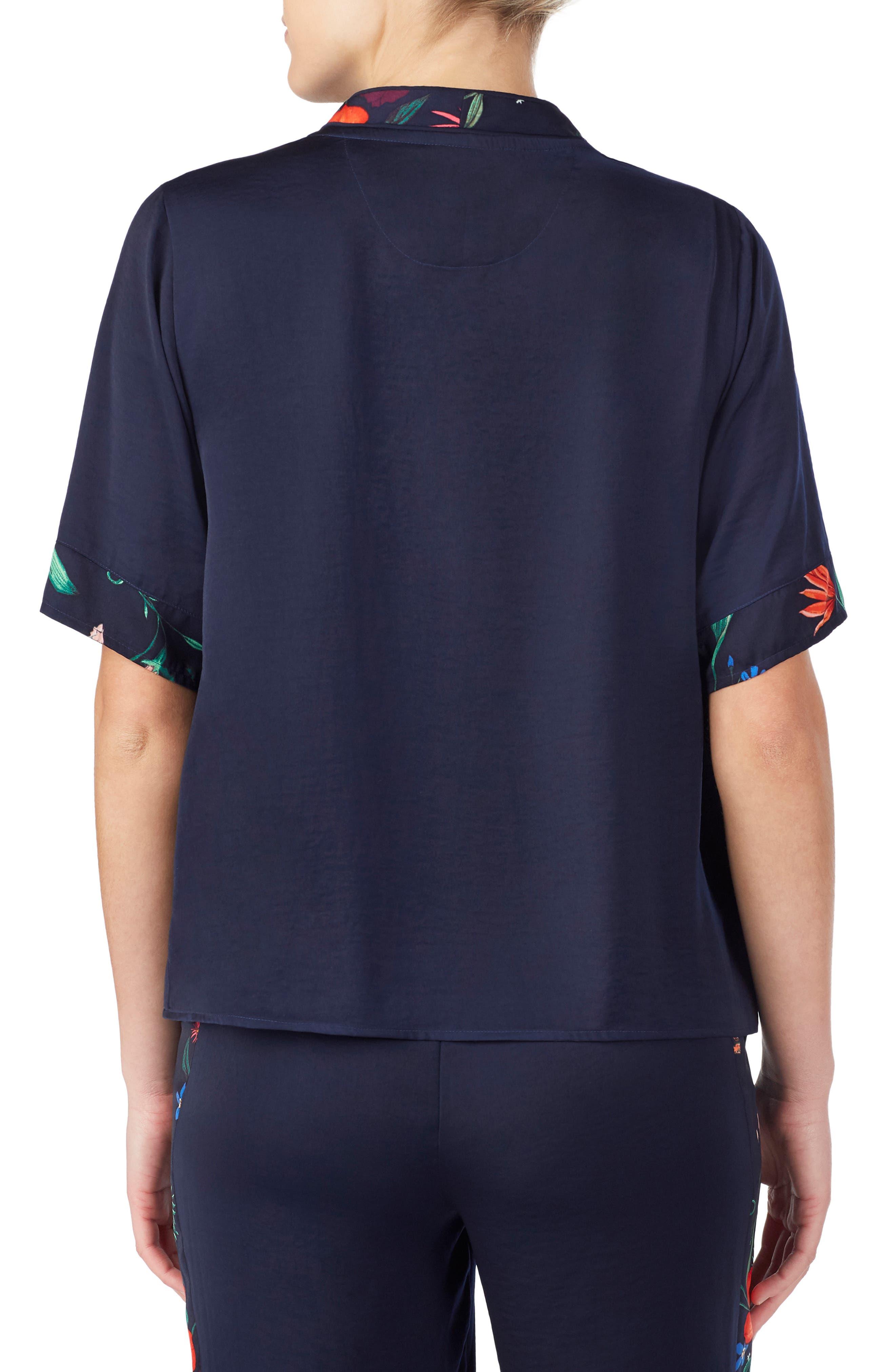 Room Service Floral Button Pajama Top
