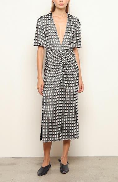 Check Jacquard Midi Dress, video thumbnail