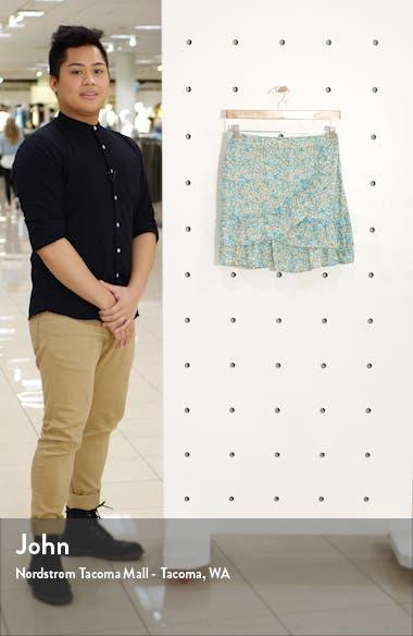 Floral Ruffle Hem Miniskirt, sales video thumbnail