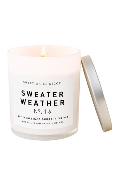 Image of SWEET WATER DECOR Sweater Weather 11 oz. Soy Jar Candle - Set of 2