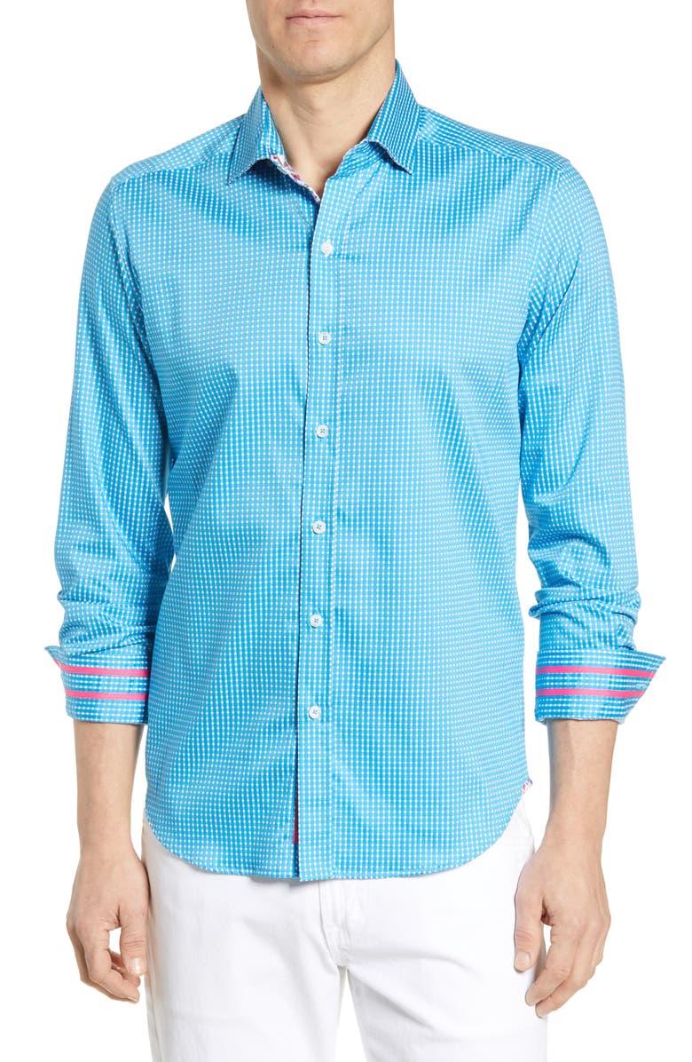 ROBERT GRAHAM Belden Tailored Fit Sport Shirt, Main, color, 400