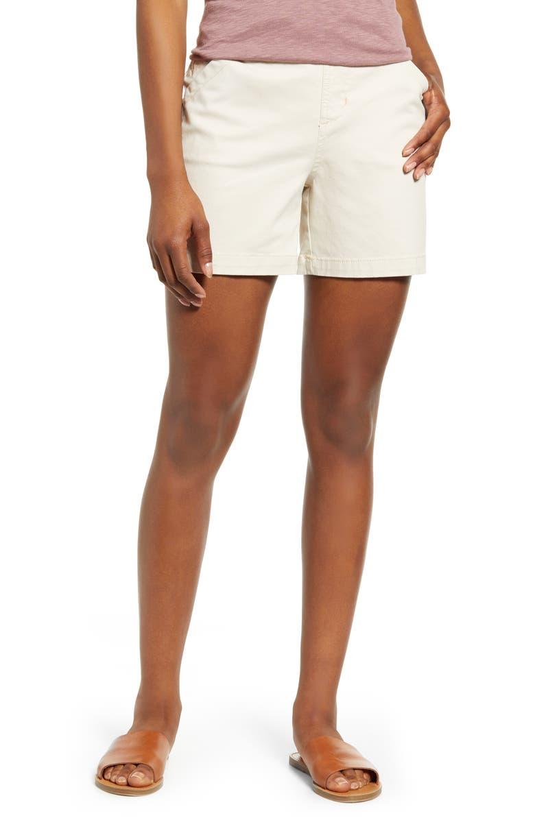 JAG JEANS Gracie Cotton Blend Shorts, Main, color, STONE