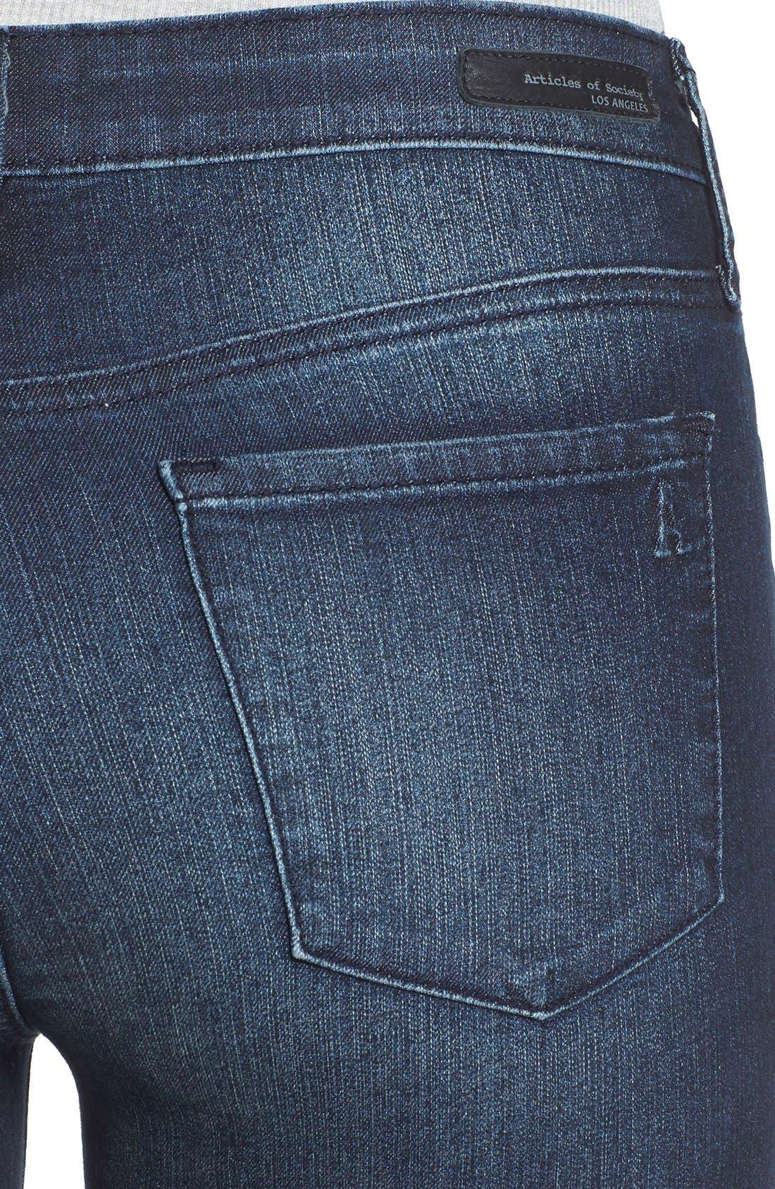 ,                             'Sarah' Skinny Jeans,                             Alternate thumbnail 4, color,                             415