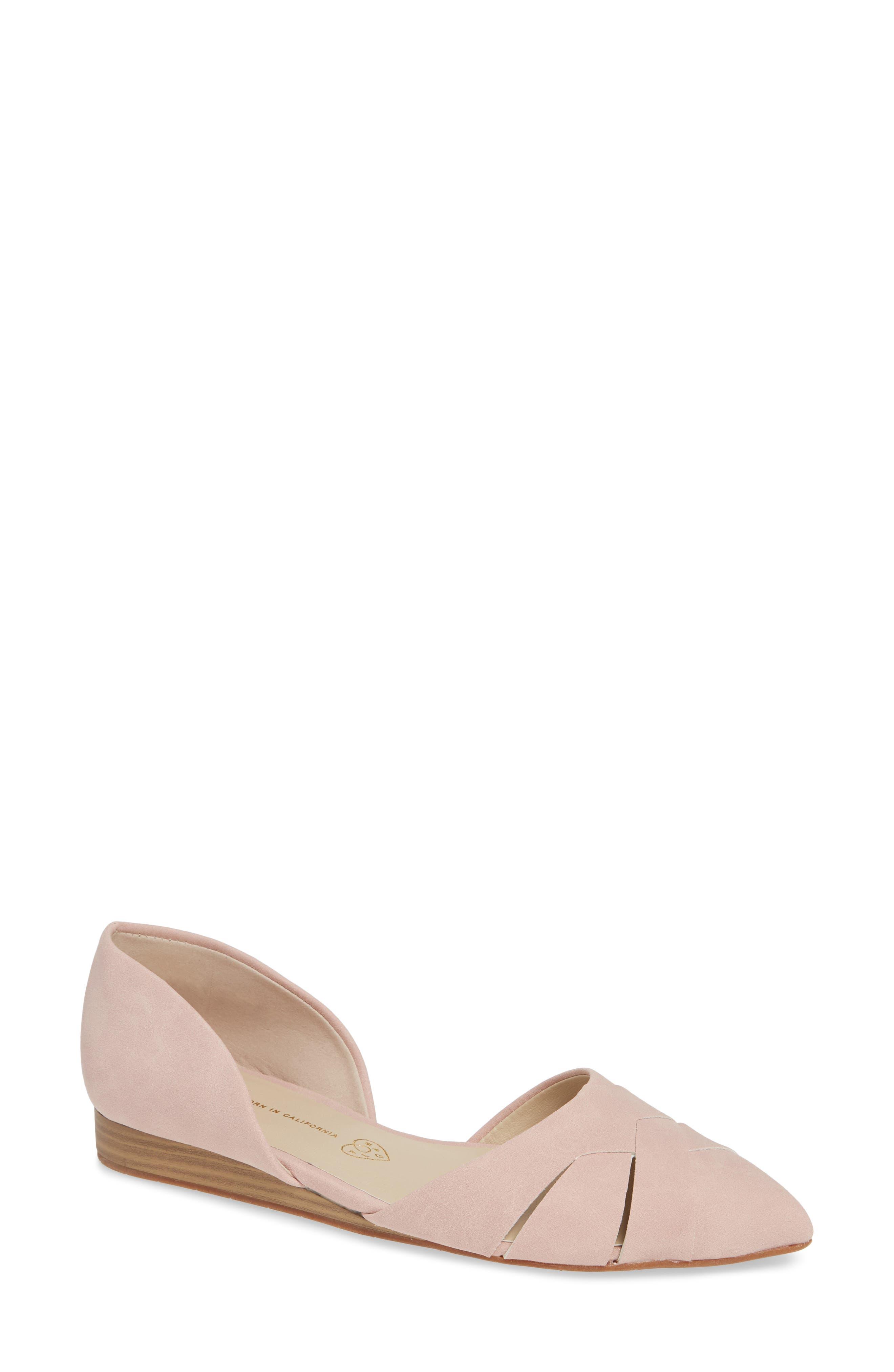Bc Footwear Focal Point Vegan Pointy Toe Flat, Pink