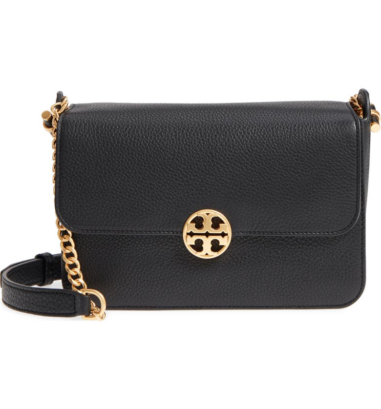 TORY BURCH Chelsea Leather Crossbody Bag, Main, color, 001