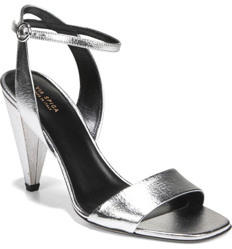 VIA SPIGA Ria Sandal, Main, color, SILVER NUGGET