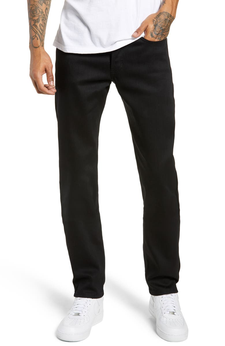 NAKED & FAMOUS DENIM Weird Guy Slim Fit Jeans, Main, color, BLACK POWER STRETCH