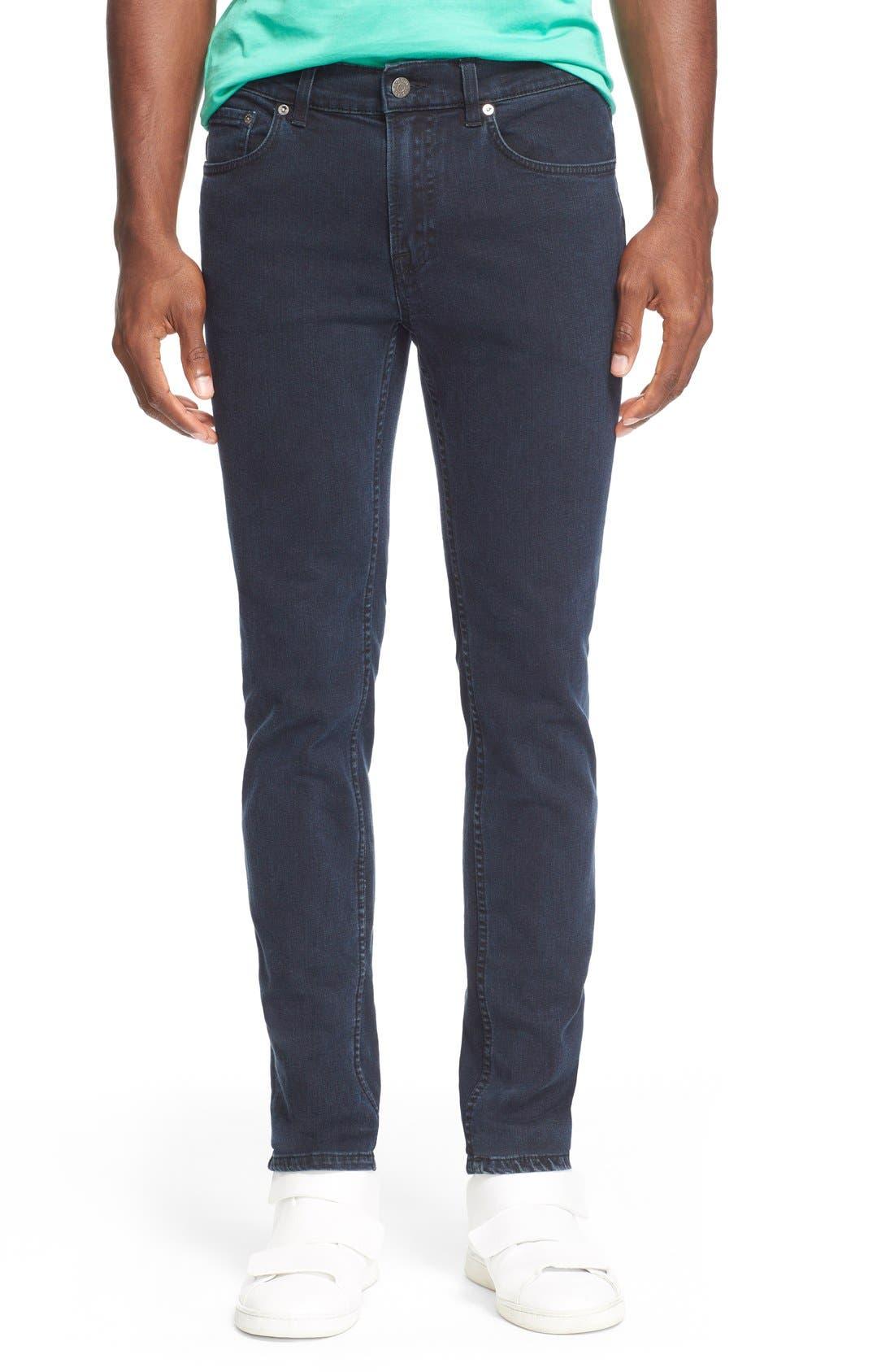 ,                             Slim Straight Leg Jeans,                             Main thumbnail 1, color,                             400