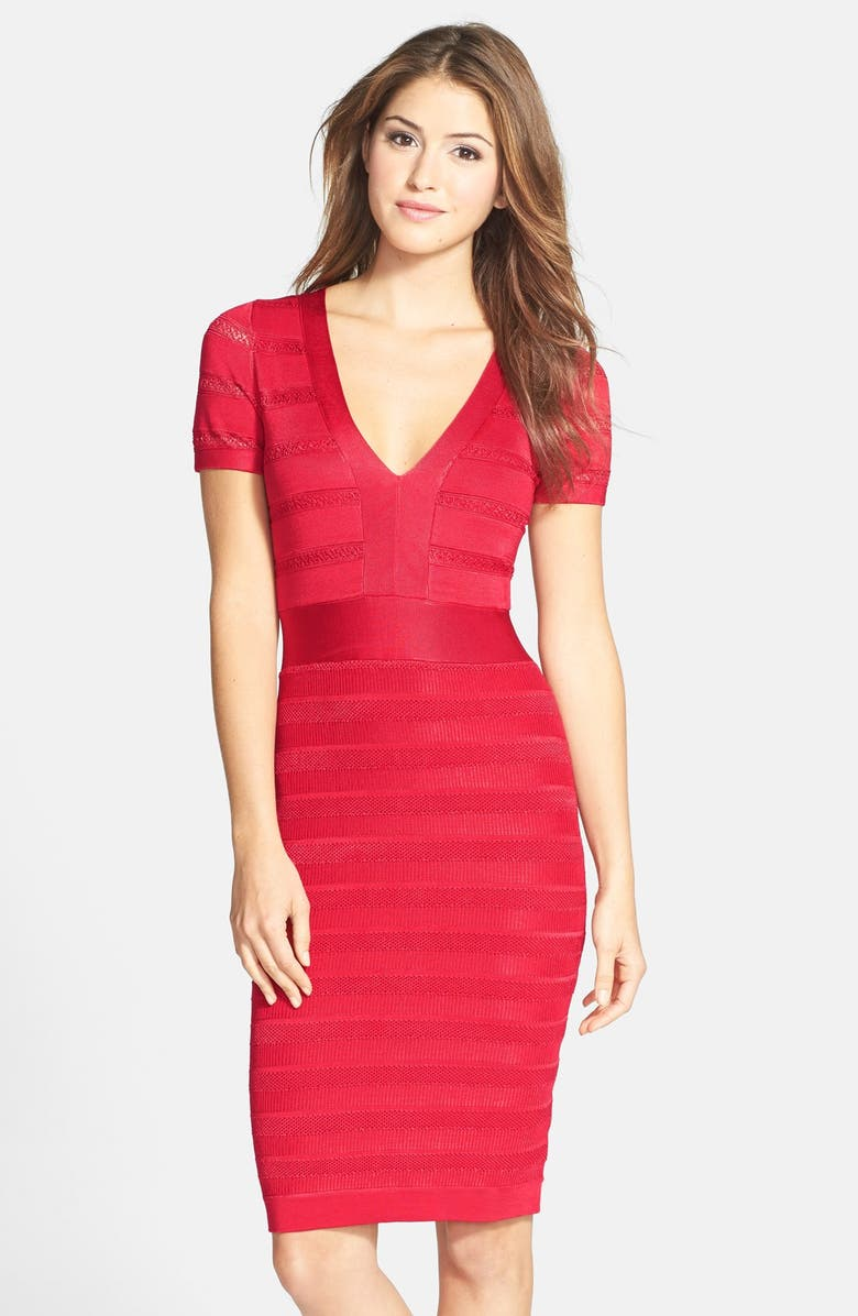 FRENCH CONNECTION 'Summer Spotlight' Knit Bandage Dress, Main, color, 605
