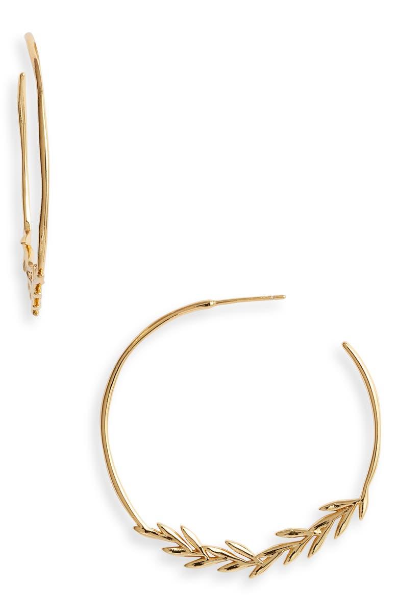 GORJANA Willow Hoop Earrings, Main, color, GOLD