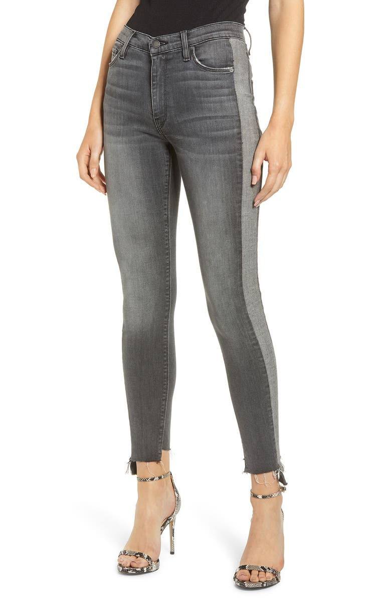 HUDSON JEANS Barbara High Waist Tuxedo Stripe Ankle Skinny Jeans, Main, color, STARK